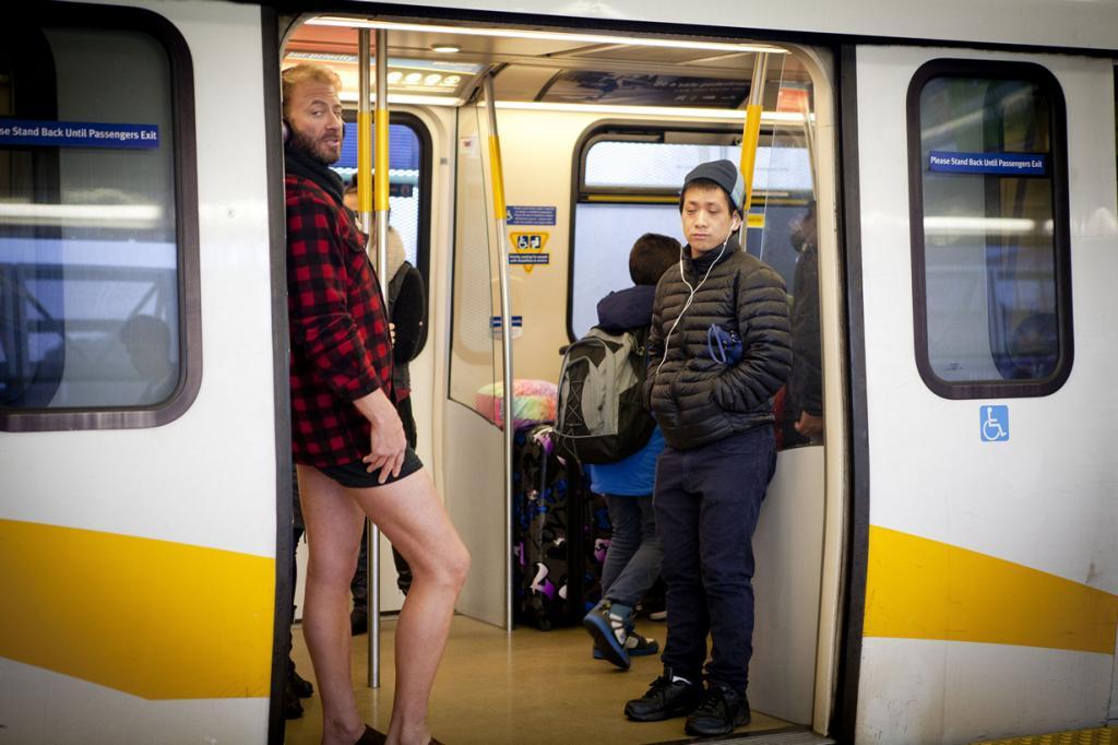 США. Нью-Йорк. Во время флешмоба «В метро без штанов». (GoToVan)