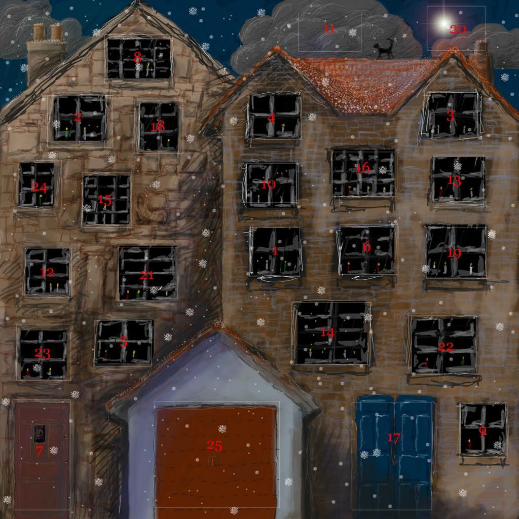 Рождественский календарь — открытка или картонный домик с открывающимися окошками. В каждой ячейке календаря находится шоколадная конфета. Впервые календарь появился в Германии в первой половине XIX века. (aesop)