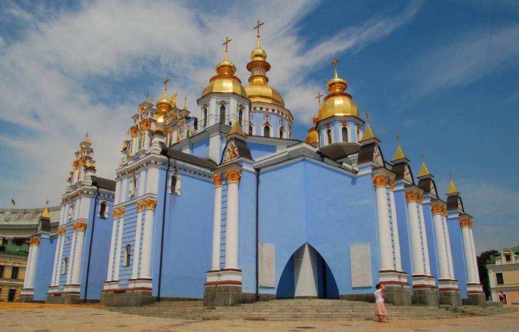 Михайловский Златоверхий монастырь. Архитектурный стиль — украинское барокко. (tgraham)