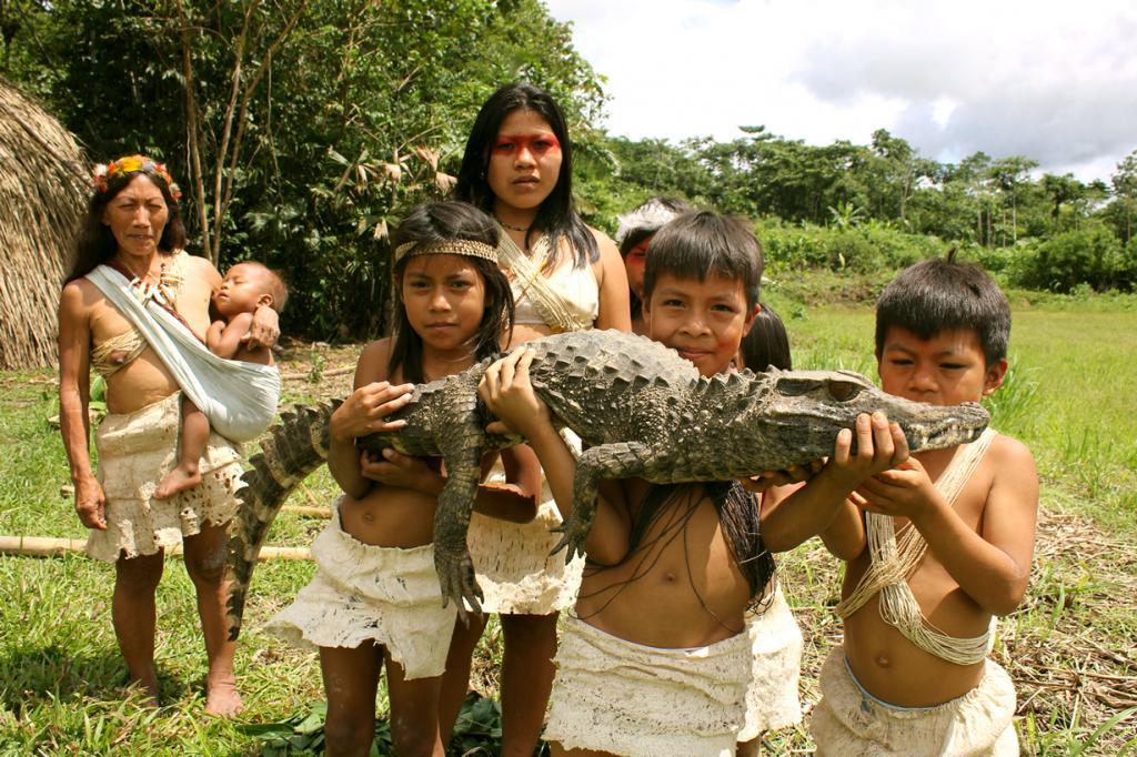 Ваорани. Проживают на территории восточного Эквадора. Численность не превышает 4 тыс. человек. (Yasuni Waorani)