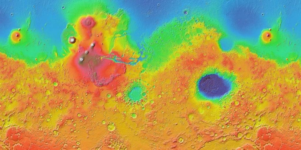 Сервис Google Mars предлагает пользователям в реальном времени просматривать карту Красной планеты.