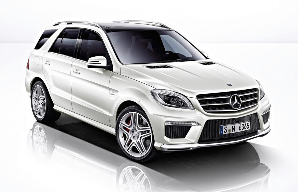 Mercedes-Benz ML 63 AMG. Мощность мотора: 516 л./c.; максимальная скорость: 281 км/ч. (Mercedes-Benz)