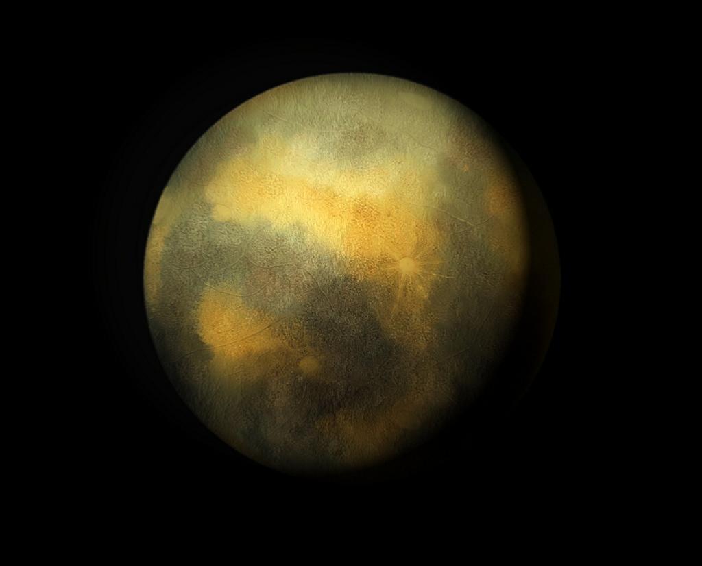 Художественное представление Плутона на основе снимков телескопа «Хаббл». (C m handler)