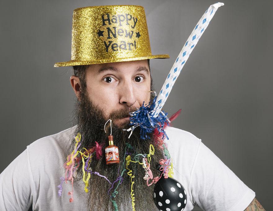 Январь. Новогодняя борода.