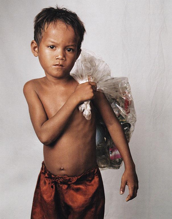 8-летний Роси, Пномпень, Камбоджа.