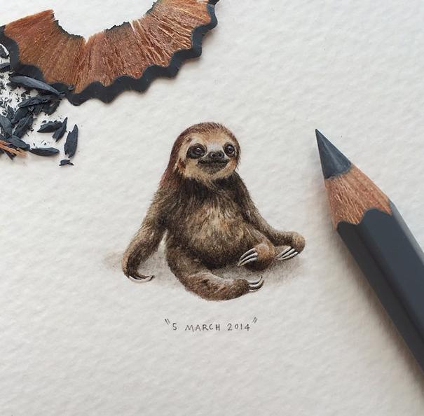 Невероятные миниатюрные картинки Лоррейн Лутс