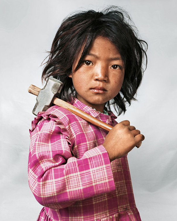 7-летняя Индира, Катманду, Непал.