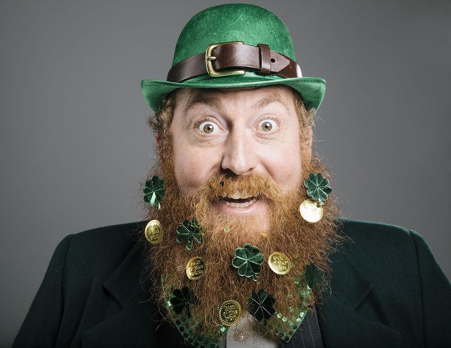 Март. Борода Дня святого Патрика.