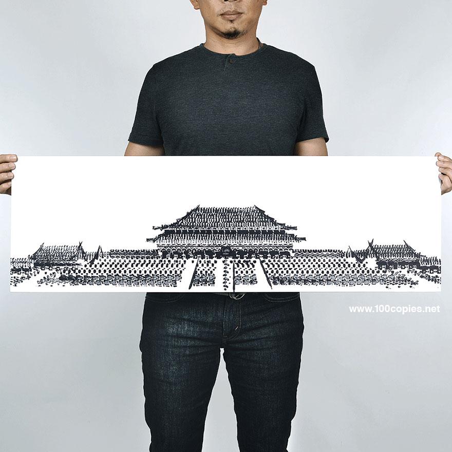 bicycle-tire-tracks-paintings-architectural-landmarks-thomas-yang-100copies-4