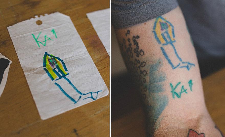 тату детские рисунки