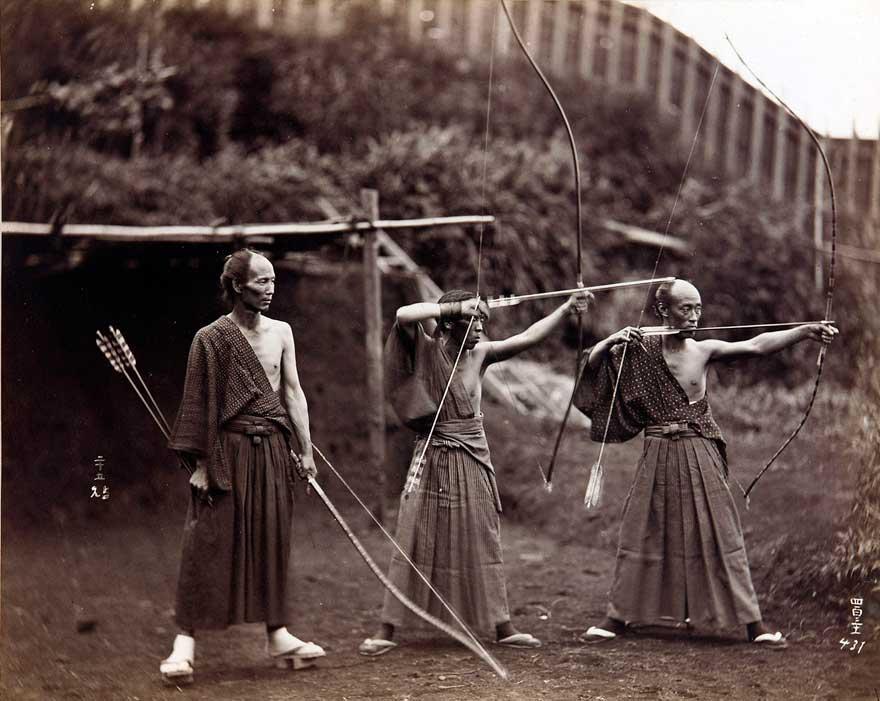 Японские лучники, 1860 год
