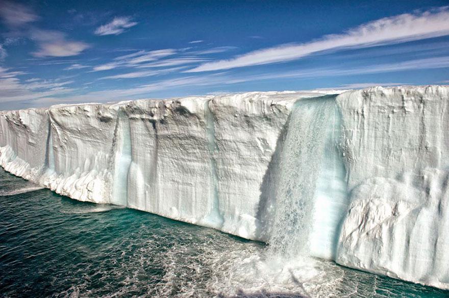Таяние ледников, Шпицберген.