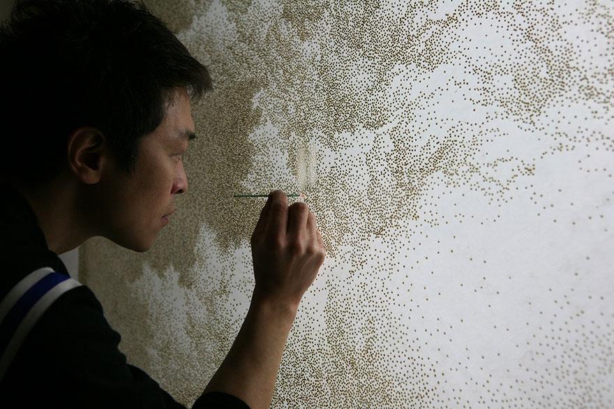 Удивительная техника создания картин Джихёна Пака