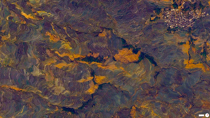 Заливные рисовые поля-террасы, Юньнань, Китай