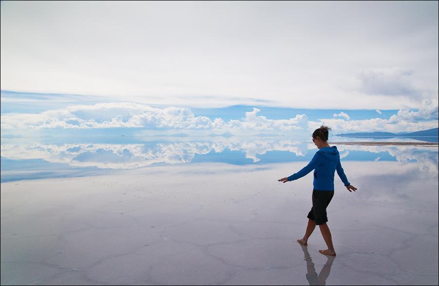 Огромное зеркало Уюни