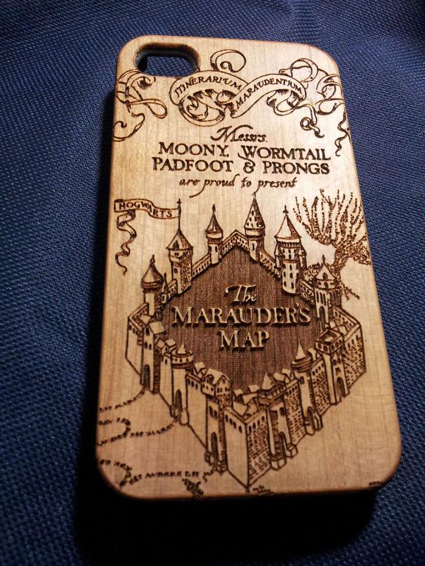 Деревянный чехол «Гарри Поттер»