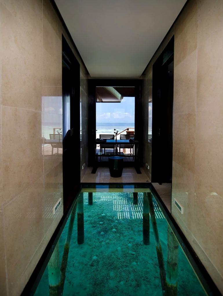 Стеклянный пол с видом на морское дно