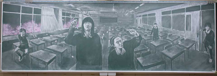 chalkboard-blackboard-art-highschool-nichigaku-japan-13