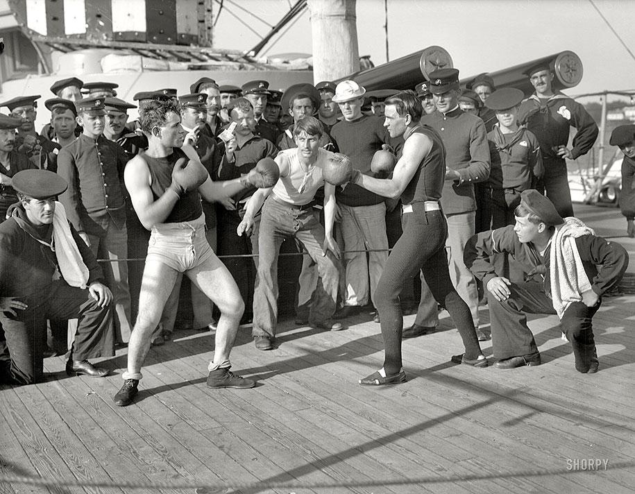 Поединок по боксу на броненосном крейсере «Нью-Йорк», 1899 год