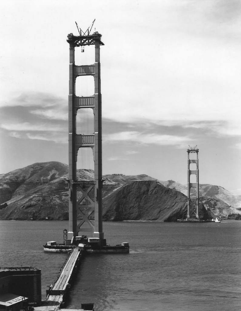 Строительство моста Золотые Ворота, 1935 год