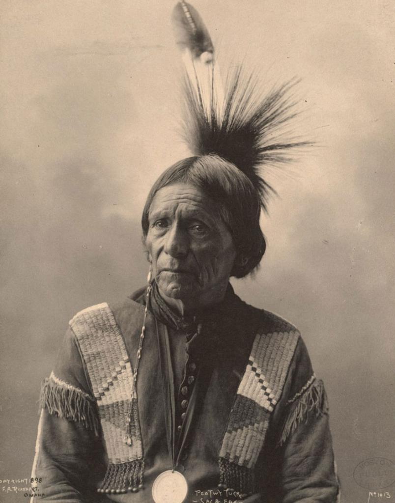 Член племени месквоки, 1898 год