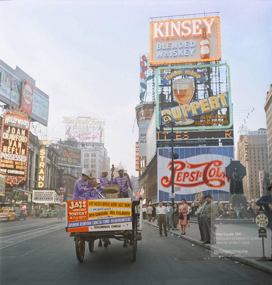 Таймс-сквер, 1947 год