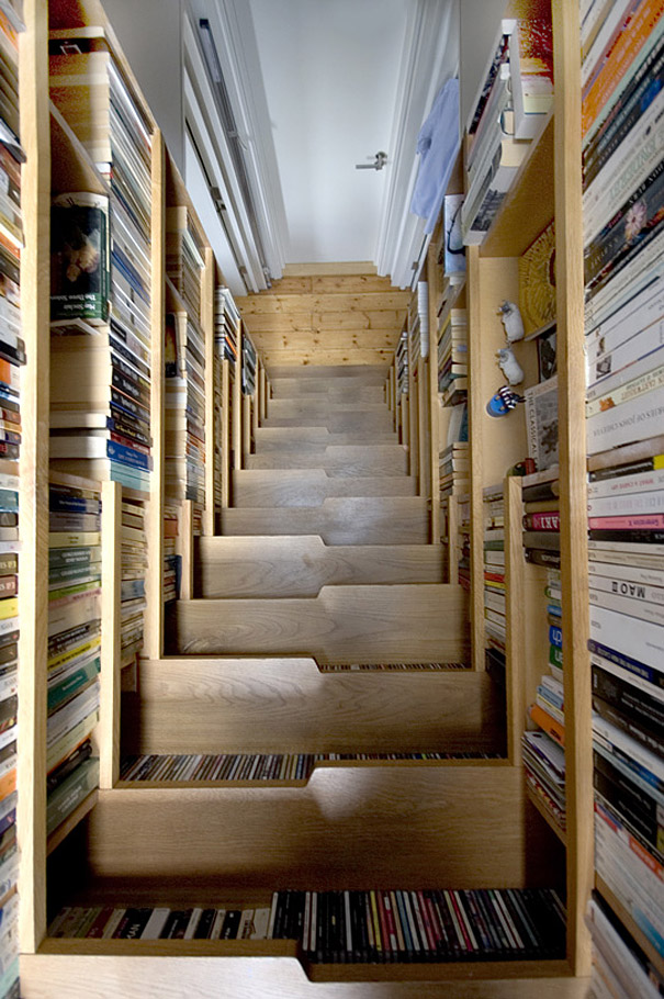 Лестница-книжный шкаф