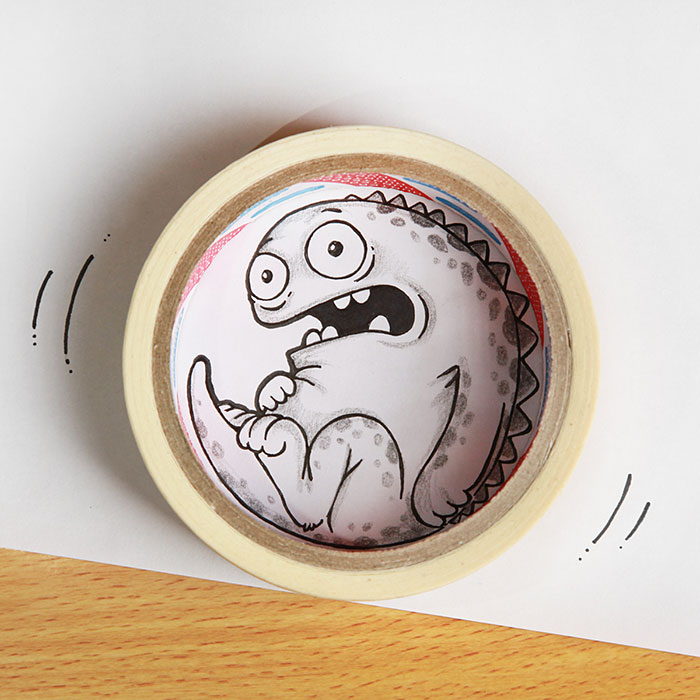 cute-dragon-doodles-interact-3d-objects-drogo-manik-ratan-12
