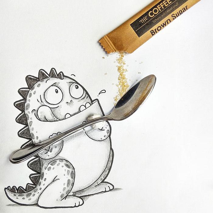 cute-dragon-doodles-interact-3d-objects-drogo-manik-ratan-13