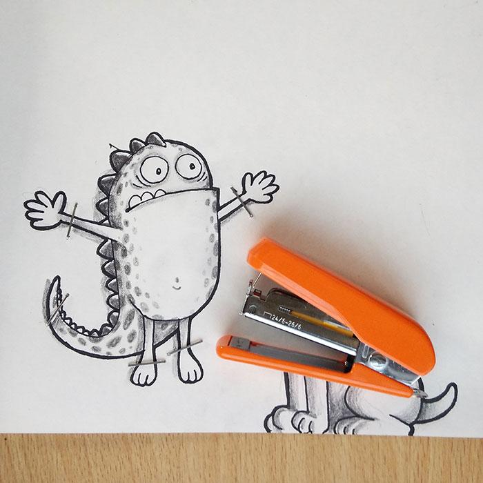 cute-dragon-doodles-interact-3d-objects-drogo-manik-ratan-16