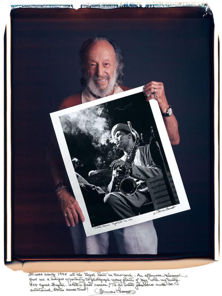 Херман Леонард «Джазовый музыкант»