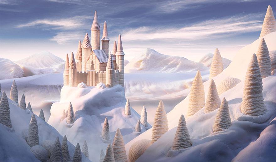 Замок из белого шоколада