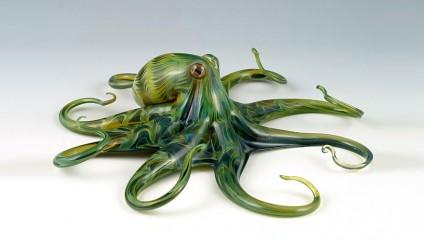 Превосходные стеклянные фигуры животных Скотта Биссона