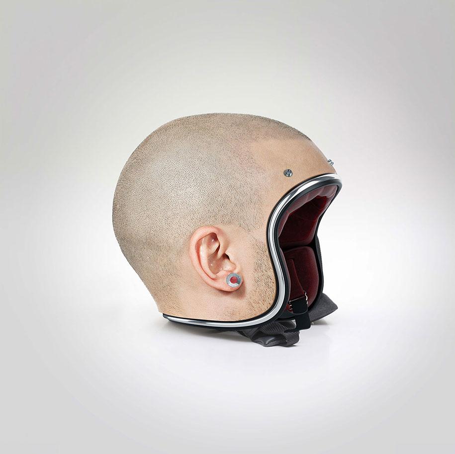 Шлемы, которые не отличить от реальной головы