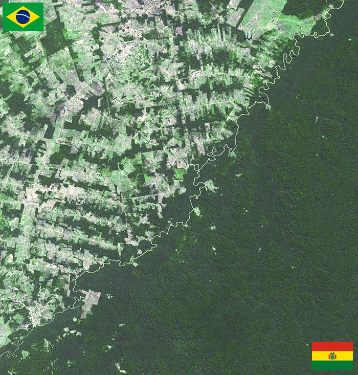 Граница между Бразилией и Боливией