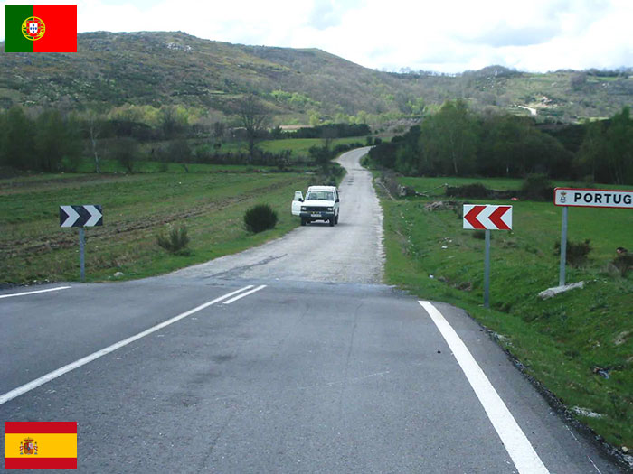 Граница между Испанией и Португалией