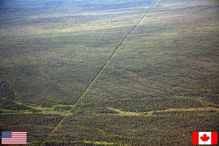 Государственная граница между США и Канадой