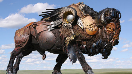 Перерождение старого металлолома в могучих животных