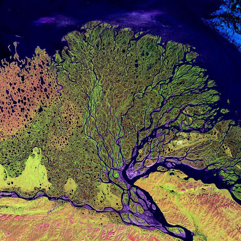 Дельта реки Лена — Сибирь, Россия