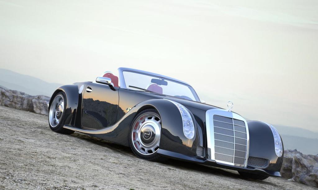 Неизвестный состоятельный человек из Восточной Европы решил побаловать себя эксклюзивным автомобилем. Воплощение своей мечты он доверил концерну Mercedes. Его идея состояла в том, чтобы из легендарного Mercedes-Benz 300 SC 1955 года которых было выпущено не более 100 экземпляров, сделать современный родстер на базе SLS AMG. В итоге, получился уникальный монстр Gullwing Americ цена которого держится в строгом секрете. Mercedes-Benz GWA 300 SLC снабдили V 8 на 571 л.с., максимальная скорость 315 км/ч, разгон до ста километров занимает 3,8 секунды. Насколько изменился дизайн родстера, судите сами.