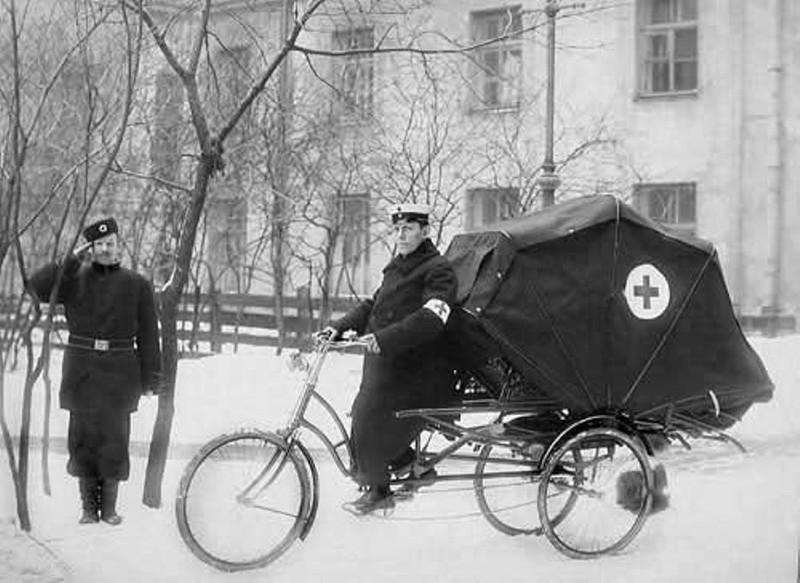 Велокарета скорой помощи, начало XX века
