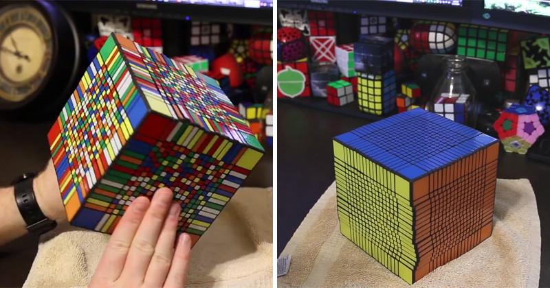 Кубик Рубика 17x17. Мировой рекорд сборки: 7,5 часов