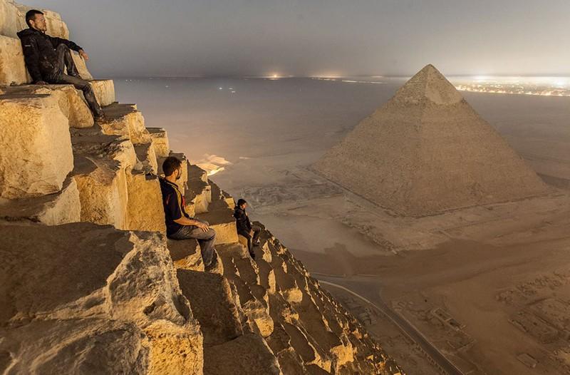 Вид с пирамиды Хеопса