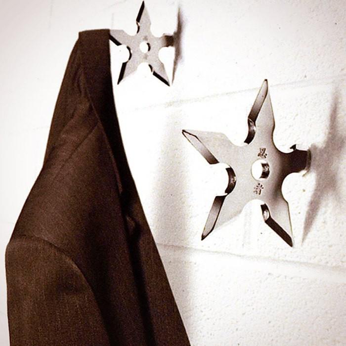 Вешалки в виде метательных звёзд ниндзя — 400,23 руб.