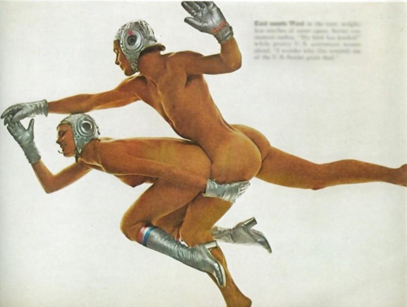 ���������� �� ������� PlayBoy 1975 ����, ����������� ������������� ������� — �������� � ������� ���������� ������������ ������� «����» � ������������� «�������».
