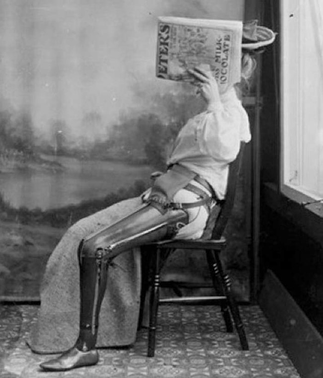 Протез ноги, 1890 год