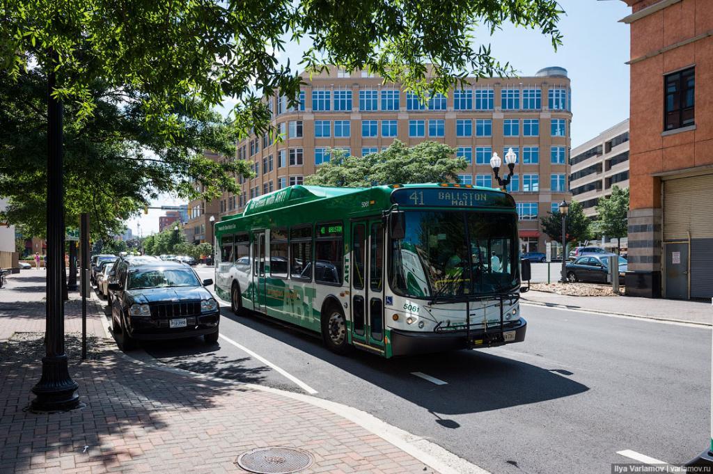 Городские автобусы зеленые.
