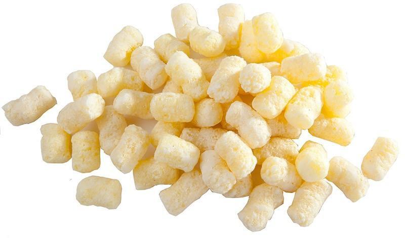 Если покупаете кукурузные хлопья, палочки, они должны быть только НЕ сладкие. Потому что сахар не используют в производстве. Сахар горит при температуре 140 градусов. Поэтому используют сахарозаменители, в данном случае цикламат.