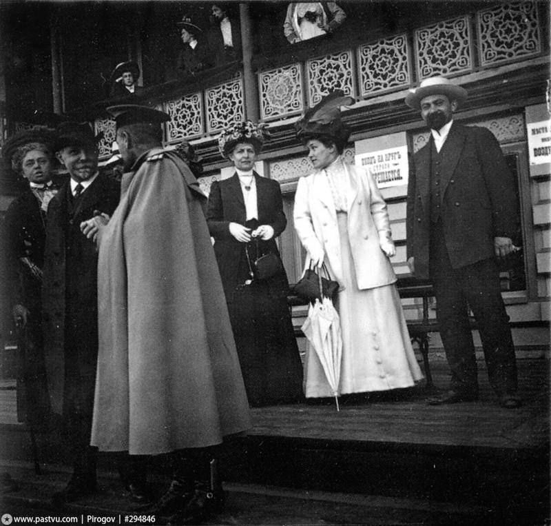 Московский ипподром, трибуны скакового поля, 1910 год.