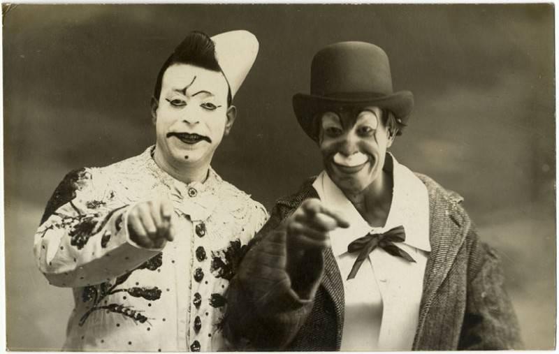 Клоуны, 1900-е годы.